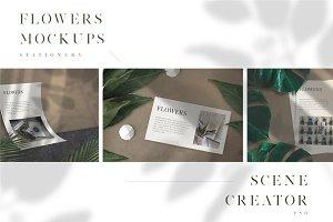 Flowers - (Mockup kit) Scene Creator