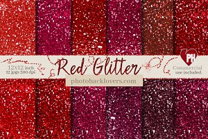 Red Glitter Textures