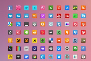 70 Sweet Social Icons