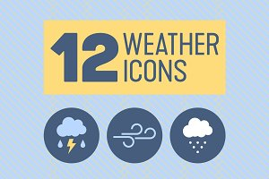 12 Weather Icons