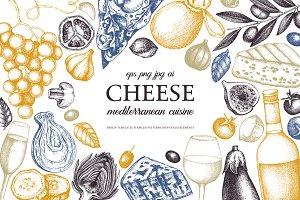 Hand Drawn Cheese Illustrations