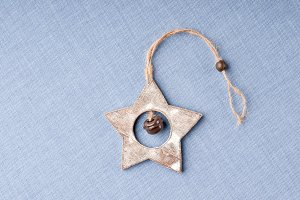 Wooden star - Christmas decoration