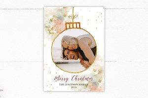 Gold Christmas Card Template