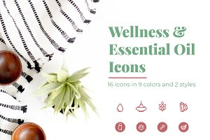 Wellness & Essential Oil Icons