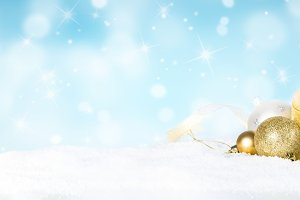 Christmas background - candle and