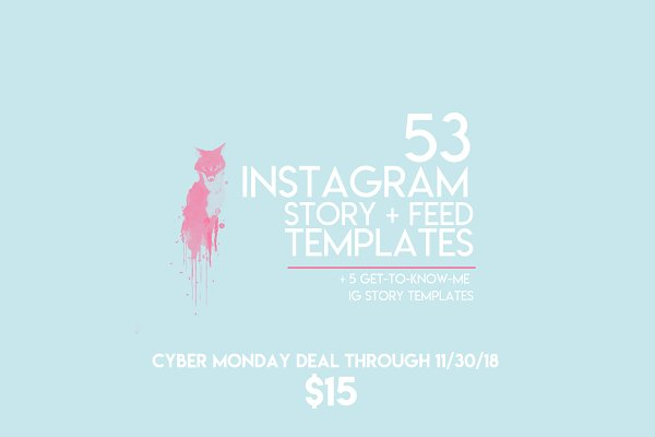 53 Instagram Story + Feed Templates