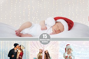Christmas Lights Photo Backdrop