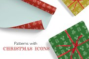 Patterns with Christmas icons