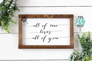All Of Me Loves All Of You Cut Files