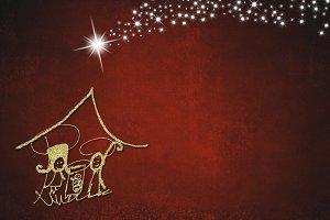 Abstract  Christmas Nativity Scene
