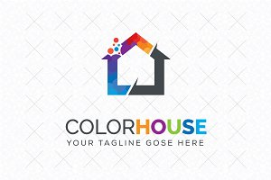 Color House Logo Template