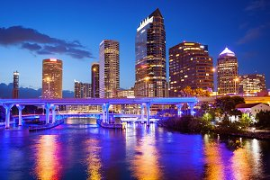 Downtown Tampa, Florida City Skyline