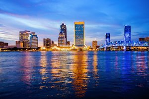 Jacksonville, Florida City Skyline