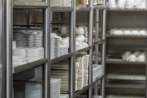 Crockery ready for use in commercial