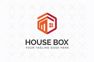House Box Logo Template