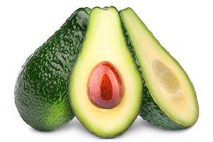 Three avocados isolated