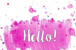 Hello Pink & White Graphic