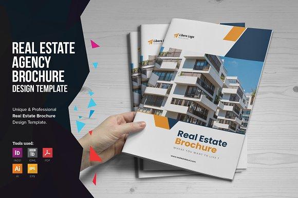 real estate brochure v6 brochure templates creative market