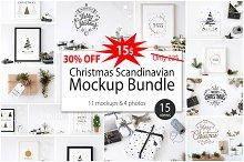 Christmas Scandinavian Mockup Bundle
