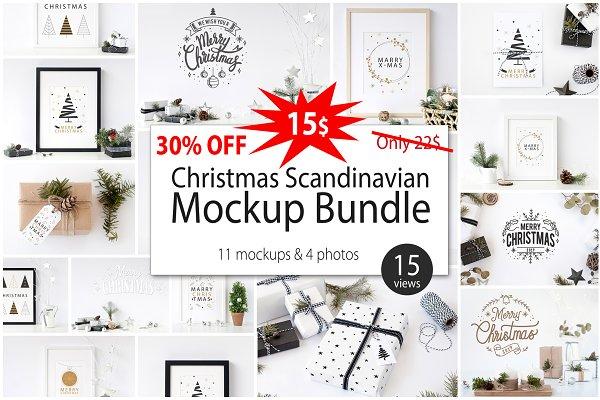 Christmas Scandinavian Mockup Bundl…