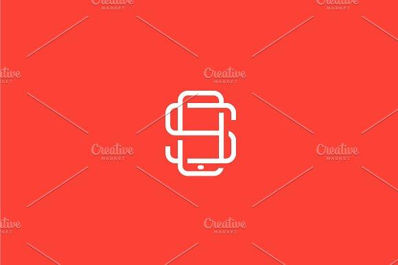 Letter S, Smartphone logo