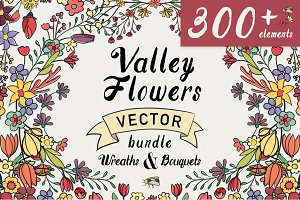 Valley Vector Floral Bundle