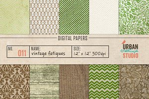 Vintage Fatigues Digital Papers