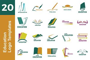 20 Logo Education Templates Bundle