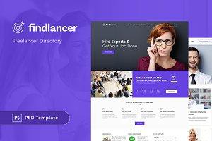 Findlancer Freelancer Directory PSD