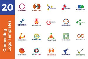 20 Logo Connecting Templates Bundle