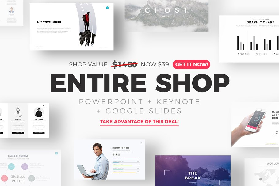 f74c2b2a5 ENTIRE SHOP + FREE Updates! ~ Presentation Templates ~ Creative Market