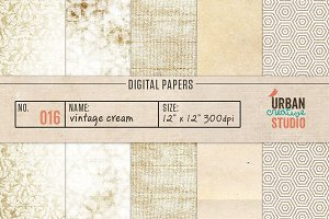 Vintage Creams Digital Backgrounds