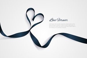 Romantic vector ribbon