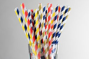 Multi-Colored Drinking Straws