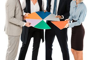 successful businesspeople holding co