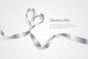 Romantic vector ribbon