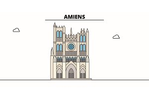 Amiens Cathedral  line trave