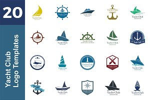 20 Logo Yacht Templates Bundle