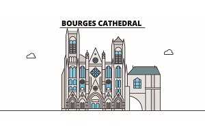Bourges Cathedral  line trave
