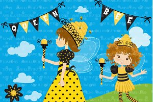 Queen Bee Clipart AMB-929