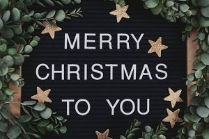 Merry Christmas to You Letter board
