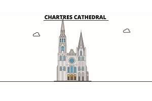 Chartres Cathedral  line trave