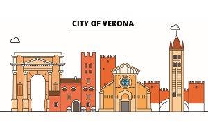 City Of Verona  line travel landmar