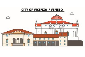 City Of Vicenza - Veneto  line trave