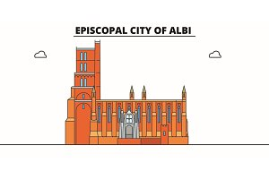 Episcopal City Of Albi  line trave