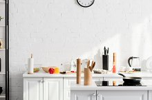 kitchen minimalistic interior with c by  in Food & Drink