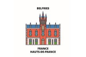 Hauts-De-France - Belfries line