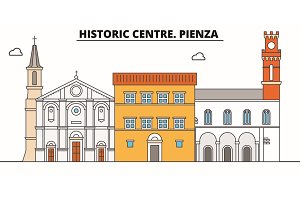 Historic Centre. Pienza  line trave