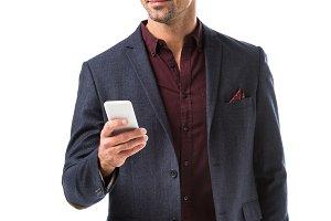 smiling adult stylish man in jacket
