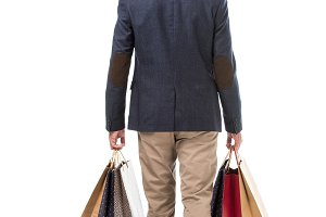 rear view of stylish man in jacket h